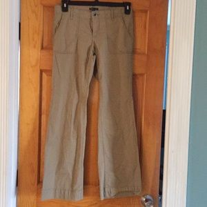 Khaki cotton pants